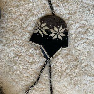 100% Wool fleece lined beanie